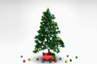 PVC christmas tree with high hear modifier